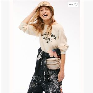 Free People Tops - Retro Brand Woodstock Tie Dye Graphic Sweatshirt